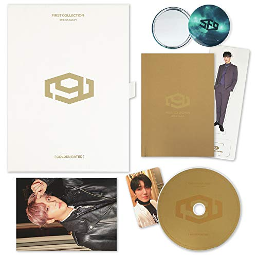 FIRST COLLECTION [ GOLDEN RATED ver. ] - SF9 1st Album CD + Booklet +Postcard Set + Mini Photo Stand + Selfie Photocard + FREE GIFT / K-Pop Sealed