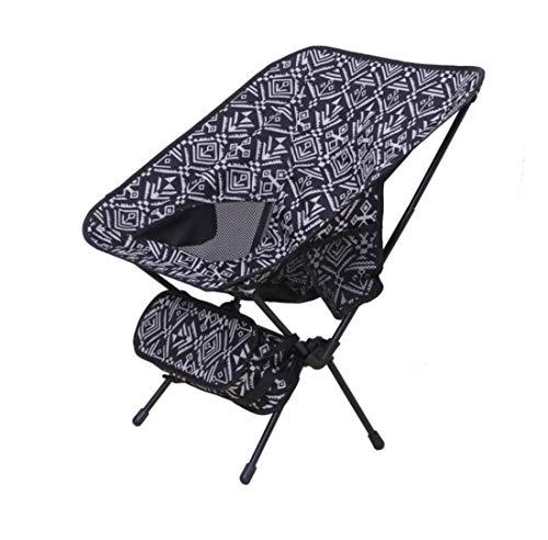 LHY TRAVEL Chaise Camping Pliable Chaise de réalisateur Noire,Camping Ultra-LéGèRes Portatives avec Le Sac De Transport Terrasse, Sport, éVéNement, Festival, Compact,Forte Charge, Noir et Blanc