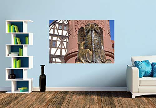 Premium Foto-Tapete Bronzefigur am Rodensteiner Brunnen (versch. Größen) (Size S | 186 x 124 cm) Design-Tapete, Wand-Tapete, Wand-Dekoration, Photo-Tapete, Markenqualität von ERFURT