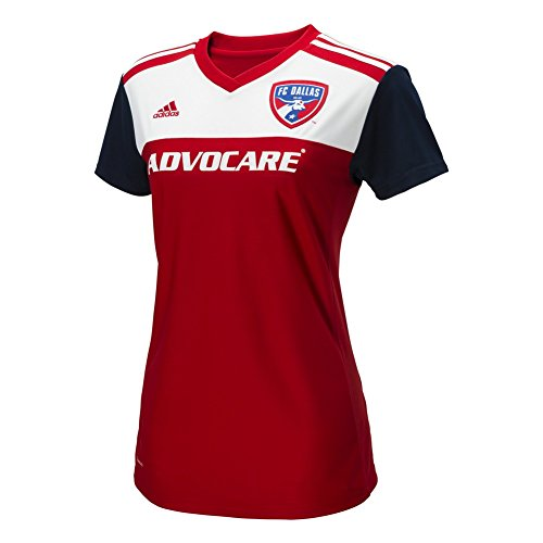 adidas MLS Fc Dallas Women's Replica Jersey, Large, Power Red