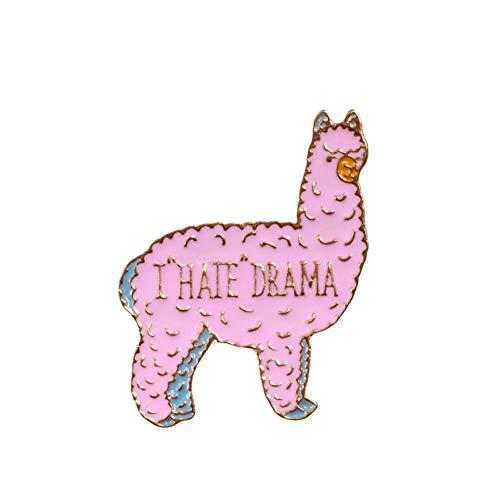 JTXZD broche Schattige Dieren vrouwen Broches Pin Luie Huisdier Hond Konijn paard Emaille Badges op denim Lapel Kledingzak shirt pinnen