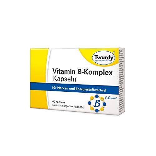 Twardy Vitamin B-Komplex Kapseln für Nerven und Energiestoffwechsel, 60 St. Kapseln
