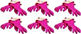 Casabella Premium Waterblock Cleaning Gloves - 6 Pair (12 Gloves) Pink - (Small)