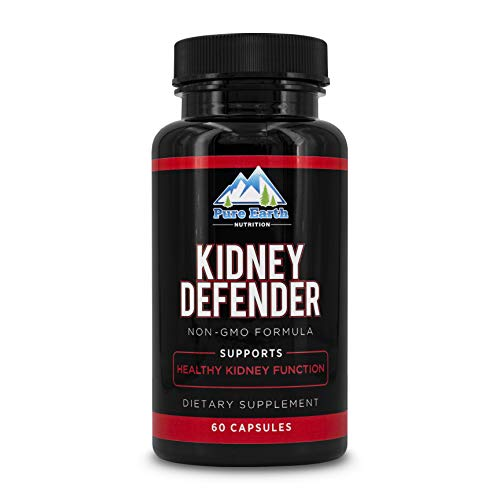 Pure Earth Nutrition Kidney Defender - Natural Kidney Health and Urinary Tract Support Supplement with Cranberry and Astragalus Root Extracts - Non-GMO Cleanse Formula (60 Vegetarian Capsules)