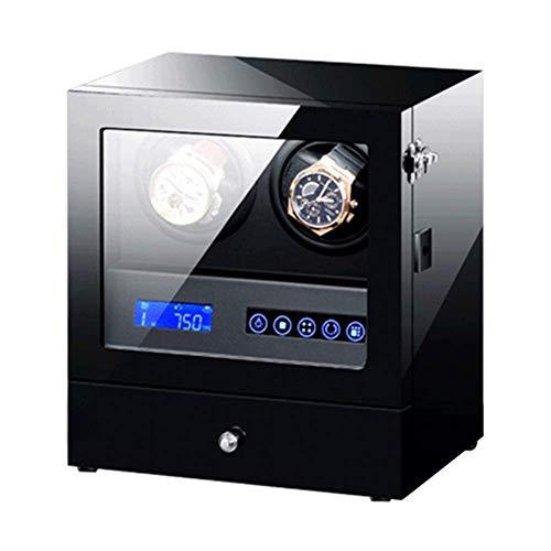 N\C Automatische Uhr Winder Box Uhren und Schmuck Aufbewahrungsschublade LCD-Touchscreen-Steuerung mit leiser LED-Hintergrundbeleuchtung Motor