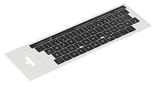 Lacerto®   15x15mm Deutsche Aufkleber für PC/Laptop & Notebook Tastaturen mit mattem kratzfestem Laminat, Germany Keyboard Stickers QWERTZ   Farbe: Schwarz