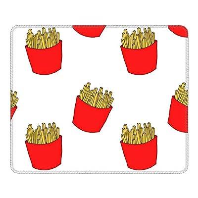 Tapis de souris de frites colorées (1) pour ordinateur portable - Antidérapant - Pour bureau, maison, voyage - 20 x 24 cm