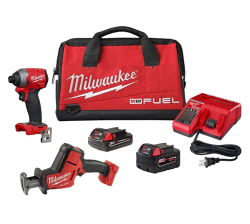 Milwaukee M18 FUEL 18-Volt Lithium-Ion Brushless Cordless HACKZALL Reciprocating Saw and Impact Driver Combo Kit (2-Tool)