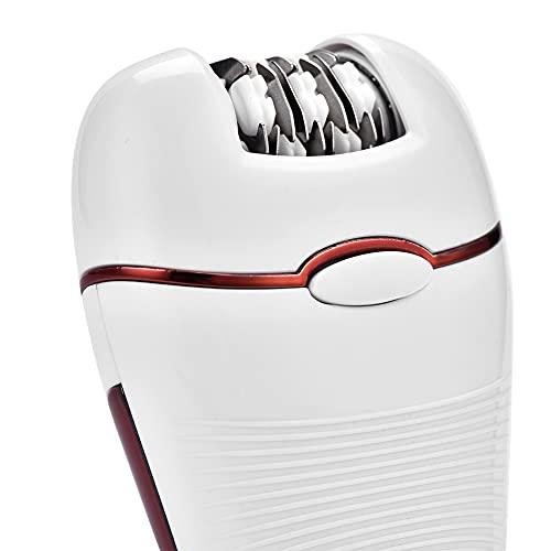 Máquina de depilación eléctrica, 110-240V ABS Máquina de pedicura de protección del medio ambiente Razor para eliminación de pelo para depilación (rojo)
