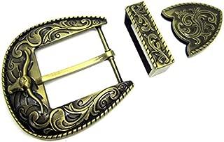 XYong Golden Bull Pin Blet Buckle Cowboy Metal Type DIY Suitable for Width Belt Buckle (Red)