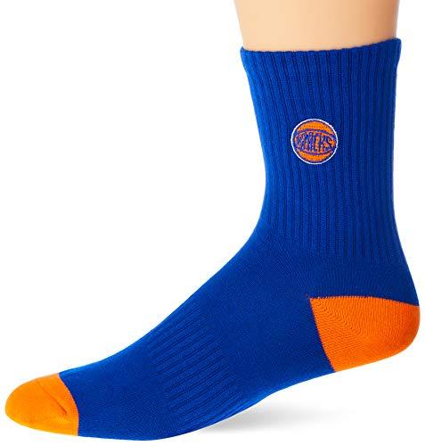 NBA Meia Cano Medio New York Unissex, 39 - 43, Azul