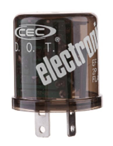 CEC Industries EF32 Electronic Turn Signal Flasher Relay, Round, 2 Prongs, 12 Volts