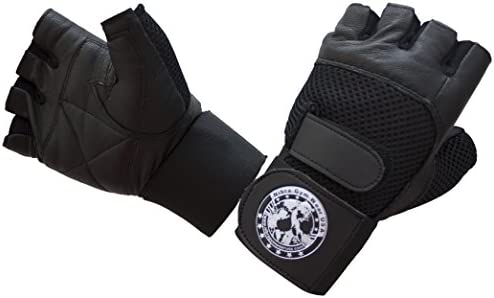 Nibra Gym Wear USA Gym Gloves Black with Wrist Wrap for Man Women Padded Workout Crossfit Weightlifting product image