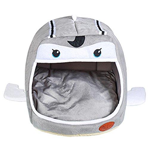 2 en 1 Cómodo Casa para Mascotas y Sofá En Interiores y Exteriores Portátil Plegable de Cama Para Perro / Cama Para Gato Gris Claro L