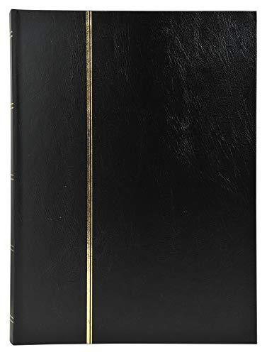 Exacompta - Réf. 21141E - Album de timbres simili-cuir 32 pages noires - 16,5x22,5 cm - Noir