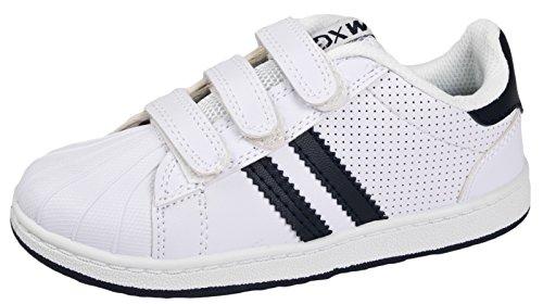 LD Outlet, Sneaker Uomo Nero Black, Blu (White/Navy) 29 EU