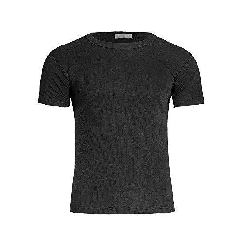 Brody & Co Herren Thermo-T-Shirts, gebürstet, gerippt, kurzärmelig Gr. L, Schwarz