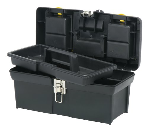 STANLEY Tool Box with Tray, Series 2000, 16-Inch, Black & Yellow (016013R)