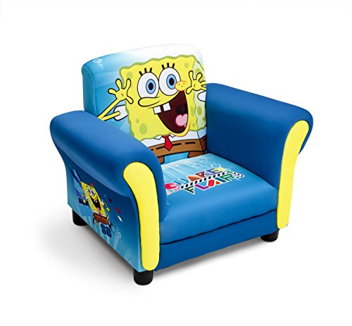 Delta Children Spongebob Squarepants Poltrona per Bambini, Legno, Blu, 59.70x44.45x47 cm