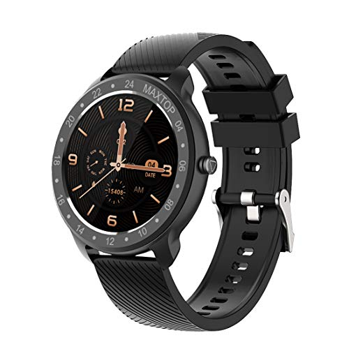 maxtop T9 Smart Watch Whole Touch Screen IP68 Waterproof Health and Sports Data Monitor for Men and Women Compatible with iPhone and Android Phone