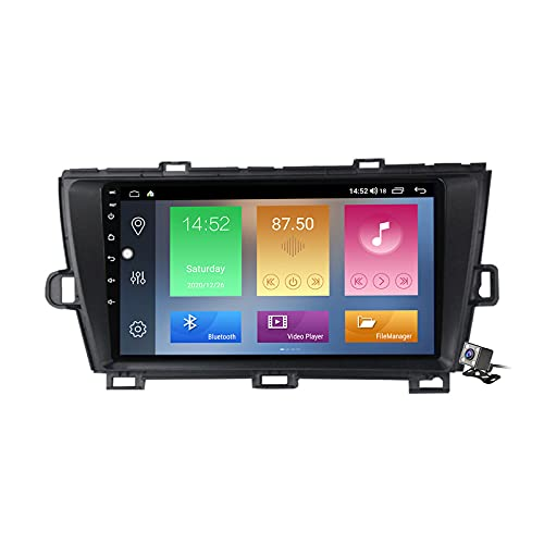 Android 10 Car Radio de Navegación GPS para Toyota Prius XW30 2009-2015 con 10,1 Pulgada Táctil Support 5G FM Am RDS/DSP MP5 Player/Steering Wheel Control/Carplay Android Auto,Negro,M100