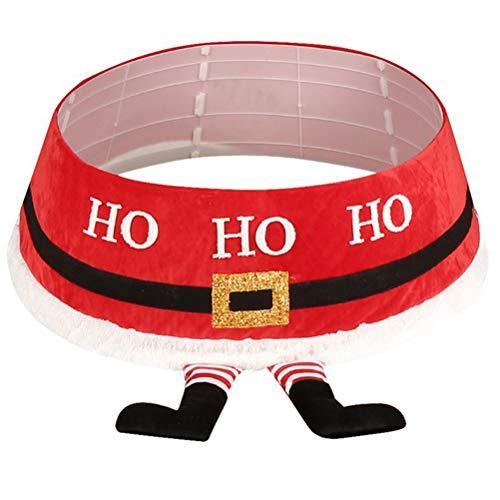 Uyuke Dekoracje świąteczne wyprzedaż figury zewnętrzne dla dzieci. Spódnica pod choinkę Świętego Mikołaja spódnica z nogami okrągła mata do wewnątrz na zewnątrz mata świąteczna impreza świąteczna dekoracja.