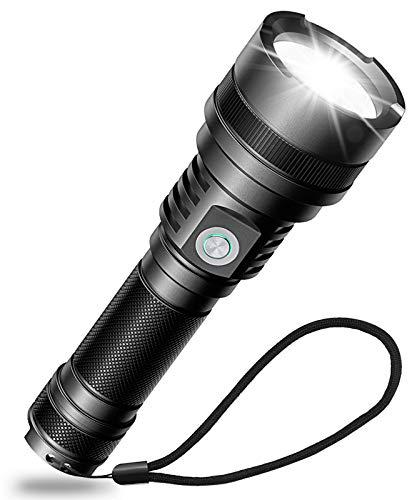 Babacom Linterna LED recargable USB superbrillante linterna para camping, senderismo, uso de...