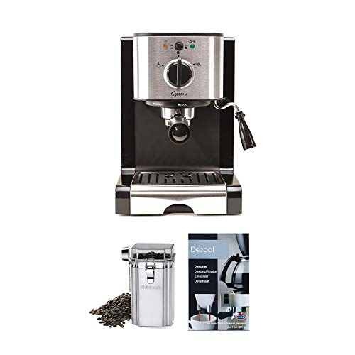 Great Deal! Capresso 116.04 Pump Espresso and Cappuccino Machine EC100, Black and Stainless with Cof...