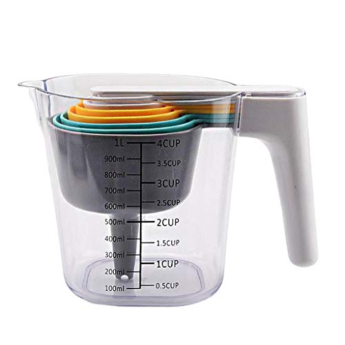 MagiDeal Juego de 9 cucharas y Tazas de medición apilables para la preparación de Alimentos