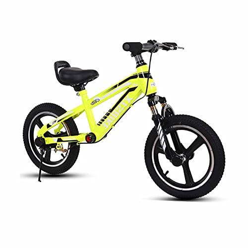 Bicicleta Sin Pedales Equilibrio Chicos Grandes Bicicleta de Equilibrio para Niños Para 4,5,6,7,8,9 Años, Freno de Mano Delantero y Diseño de Reposapiés, Neumático de Aire De 14 Pulgadas / 16 Pulgadas