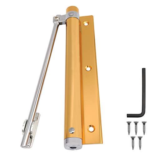 INHEMI Cierrapuertas Automatico Puerta, Cierrapuertas Muelle de Aleación de Aluminio Ajustable, Ideal para Instalar en las Puertas de Madera y Metal