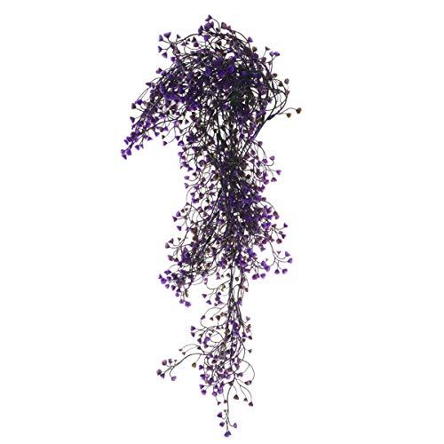 VORCOOL 85CM Flor Artificiales Colgante de Vid Garland Planta para Decoración de la Boda de Fiesta de Hogar (Púrpura)