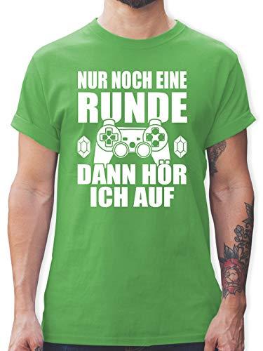 Nerds & Geeks - Nur noch eine Runde - M - Grün - Nerd Shirt - L190 - Tshirt Herren und Männer T-Shirts