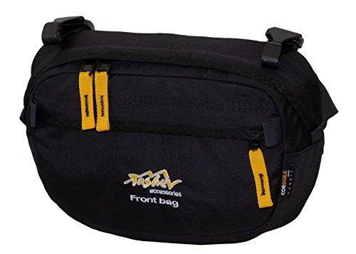 Tashev Front Bag Fronttasche Zusatztasche Gürteltasche Zubehör für Wanderrucksäcke Trekkingrucksäcke (Schwarz & Gelb)