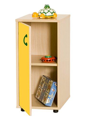 Mobeduc 600216HPS17-Mobile per sotto/armadio a 2 ripiani, in legno, colore: faggio/giallo/nero, 36 x 76,5 x 40 cm
