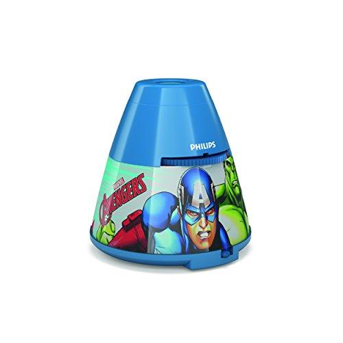 Philips Disney Cars Nachtlicht und Projektor für Kinder Avengers blau