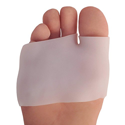 Dr. Fredericks Original Half Toe Sleeve Metatarsal Pads - 2 Pieces - Cushioning for Bunions, Calluses, and Blisters - Great for Diabetic Feet - For Men and Women