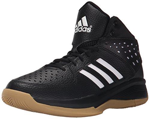 adidas Performance Men's Court Fury Basketball Shoe,Black/White/Gum,10.5 M US
