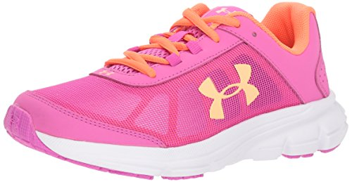 Under Armour Girls' Grade School Rave 2 Sneaker, Fluo Fuchsia (502)/Fluo Fuchsia, 6.5