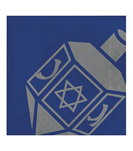 Happy Hanukkah Dreidel 20 pk 6.5'' 2-ply Chanukah Holiday Dinner Party Napkins