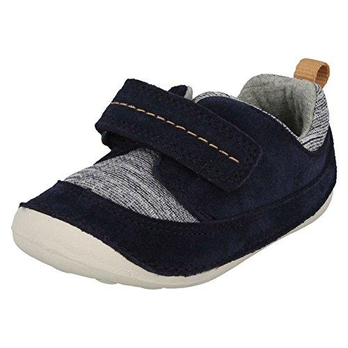 Clarks Unisex-Kinder Tiny Move Sneaker, Blau (Blue Leather), 18.5 EU