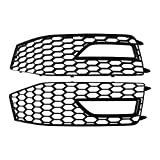 MotorFansClub Fog Light Lamp Grille Grill Cover Bezel Plate Fit For Compatible With Audi A4 S-Line S4 2013 2014 2015
