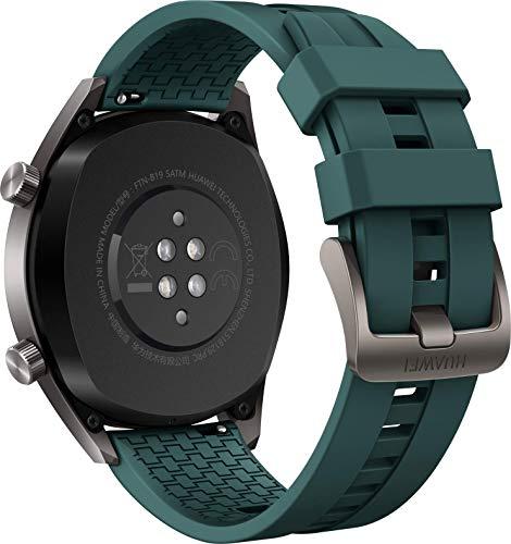 Huawei Watch GT Active Smartwatch (46 mm Amoled Touchscreen, GPS, Fitness Tracker, Herzfrequenzmessung, 5 ATM wasserdicht) Dunkelgrün - 2