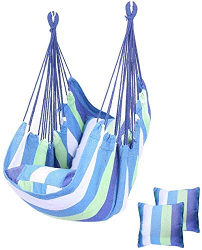 KAIGE Hanging Rope Hammock Chair Swing Seat,Relax Hanging Swing Chair,for Any Indoor Or Outdoor Spaces,F WKY