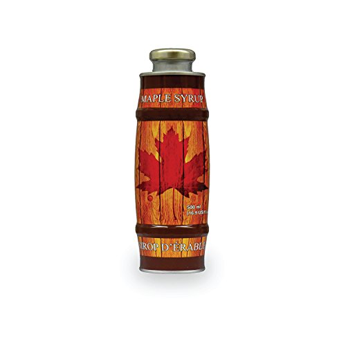 Pure, Organic Canadian Maple Syrup, All-Natural, Grade-A Amber Rich Taste | Delicious Sweetness | No Preservatives, Gluten Free, Vegan Friendly (1 X 500ml bottle)