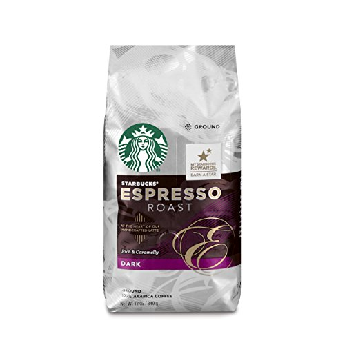 Starbucks Espresso Roast Coffee, Ground, 12-Ounce Bags