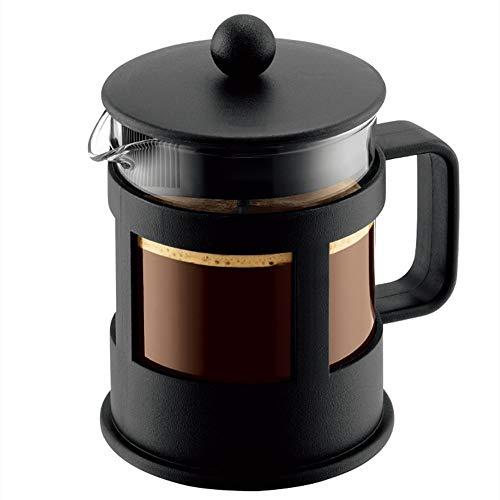 Vobajf Caffettiere a pistone French Press Pot Coffee Pot del tè Filtro Cup Fatto a Mano della Famiglia del caffè Appliance cafetieres (Colore : Stainless Steel, Size : 500ml)