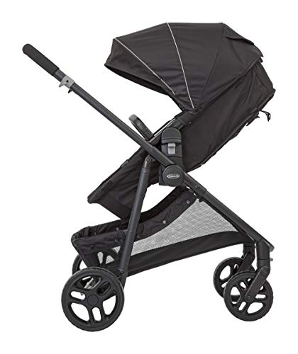 Graco Transform 2-in-1 Pushchair/Stroller (Birth to 4 Years Approx, 0-22 kg), Converts from Pramette to Pushchair, Black Graco Suitable from birth to approx. 4 years (22kg) Convertible pramette to pushchair in a flash. includes a comfy soft new-born liner for the first journey Click connect travel system compatible with graco snug ride/snug essentials i-size infant car seats 7
