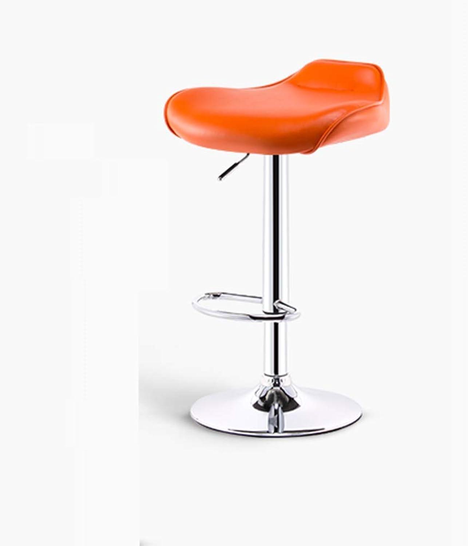 CHX Bar Chair Bar Chair Lift High Stool Modern Minimalist Bar Table and Chair Stool Home High Chair Beauty Bar Stool C (color   orange)