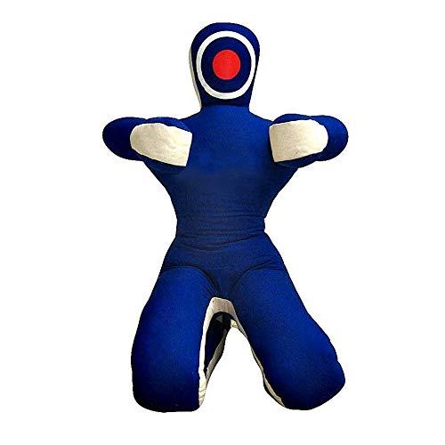 Muñeco de agarre ROX Fit MMA realista de judo – Posición sentada – manos delanteras azul blanco (6 pies (72 pulgadas) – 180 cm)